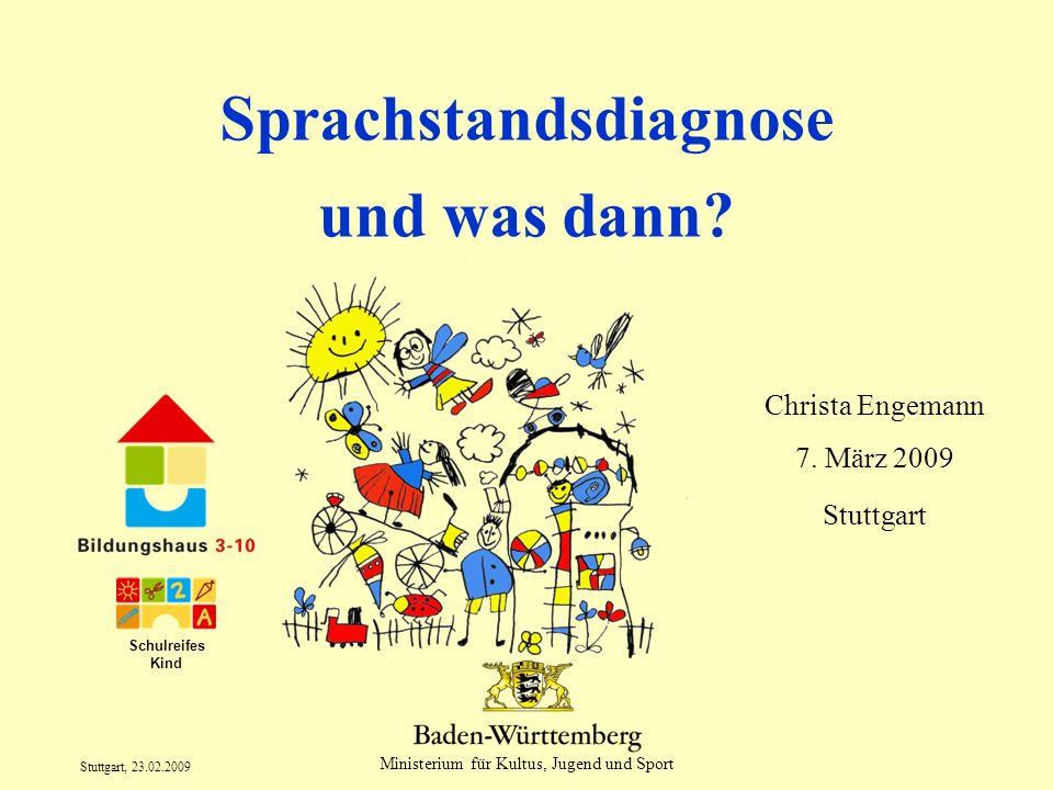 Sprachstandsdiagnose und was dann
