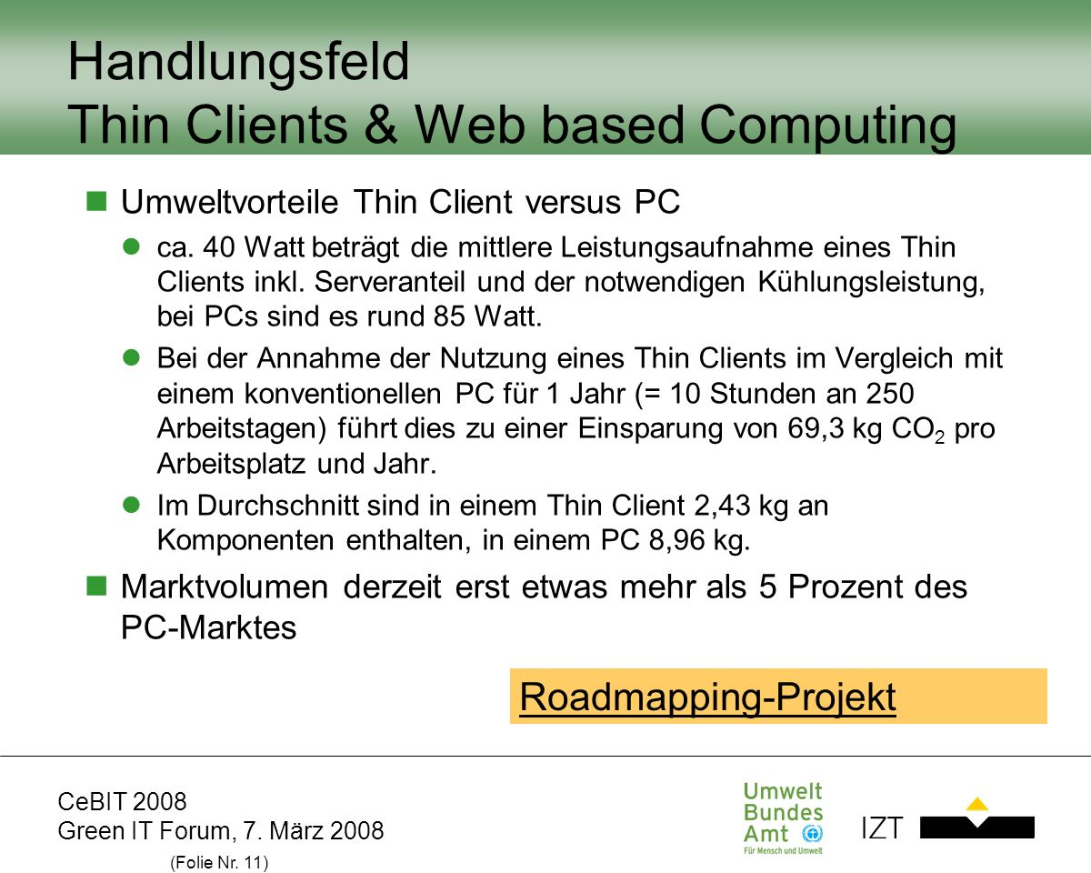 Handlungsfeld Thin Clients & Web based Computing