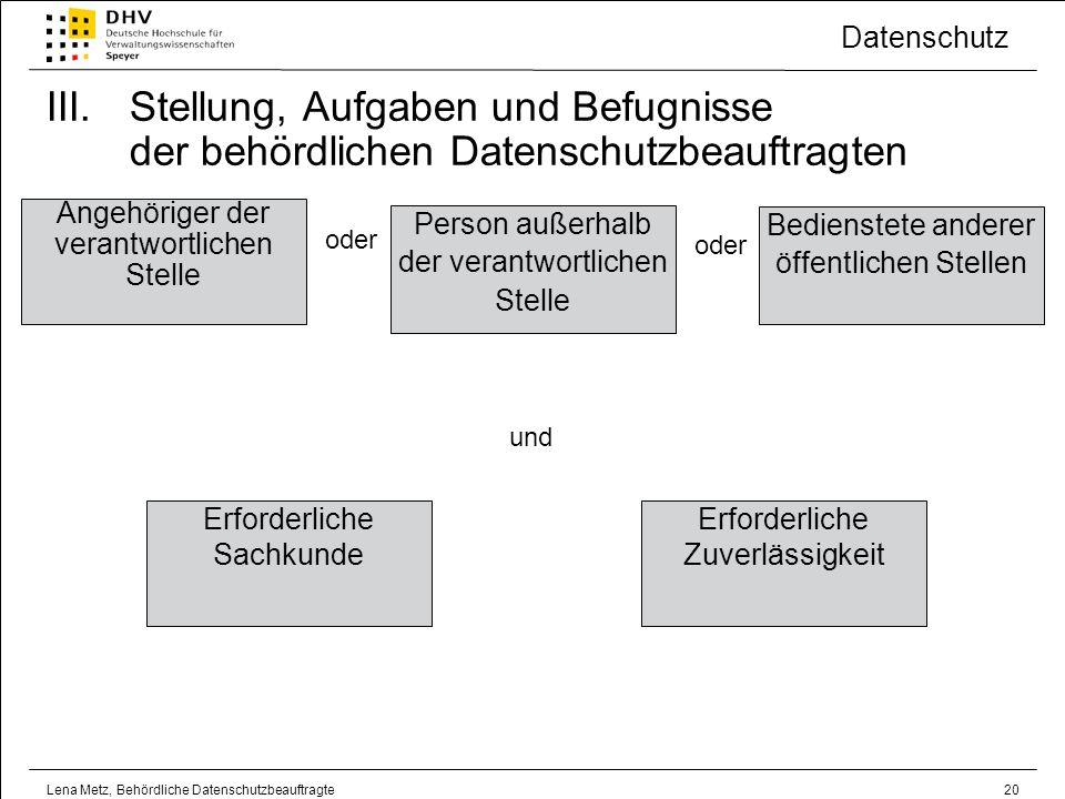 Stellung, Aufgaben und Befugnisse der behördlichen Datenschutzbeauftragten