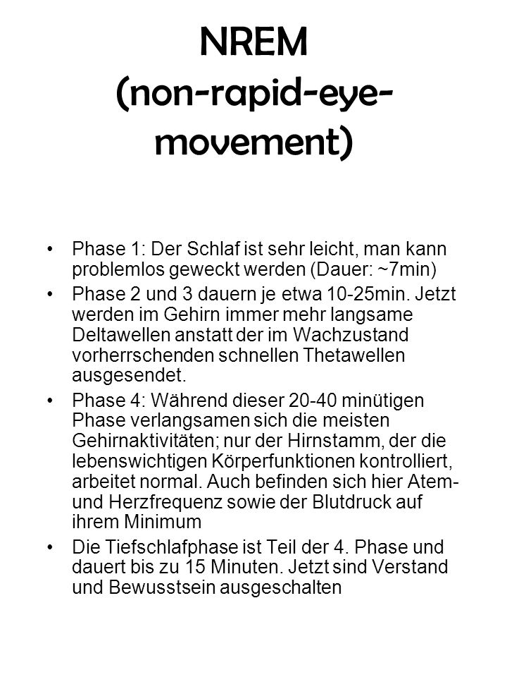 NREM (non-rapid-eye-movement)