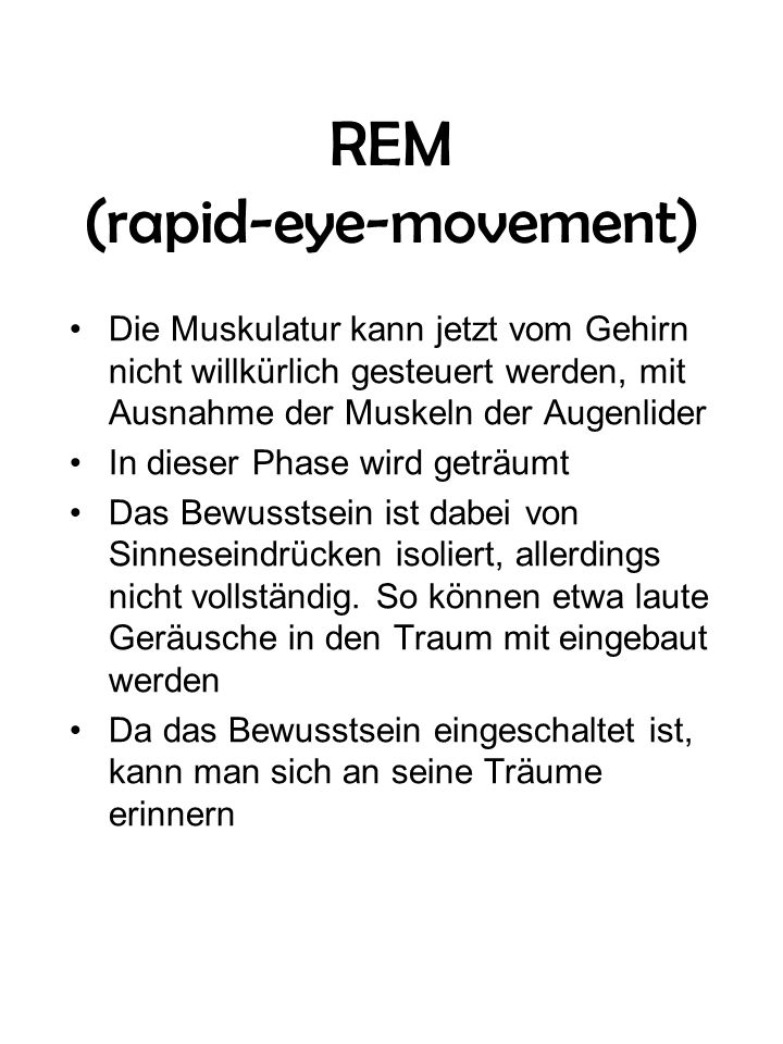 REM (rapid-eye-movement)