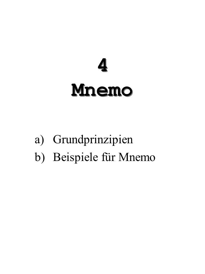 Grundprinzipien Beispiele für Mnemo