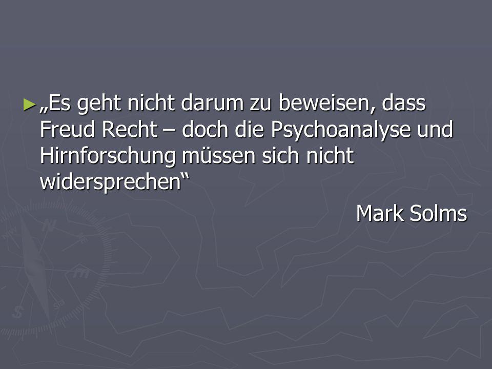 """""""Es geht nicht darum zu beweisen, dass Freud Recht – doch die Psychoanalyse und Hirnforschung müssen sich nicht widersprechen"""