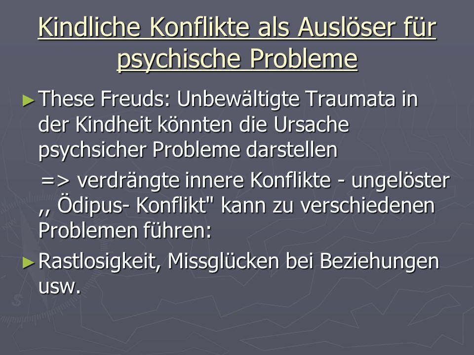 Kindliche Konflikte als Auslöser für psychische Probleme