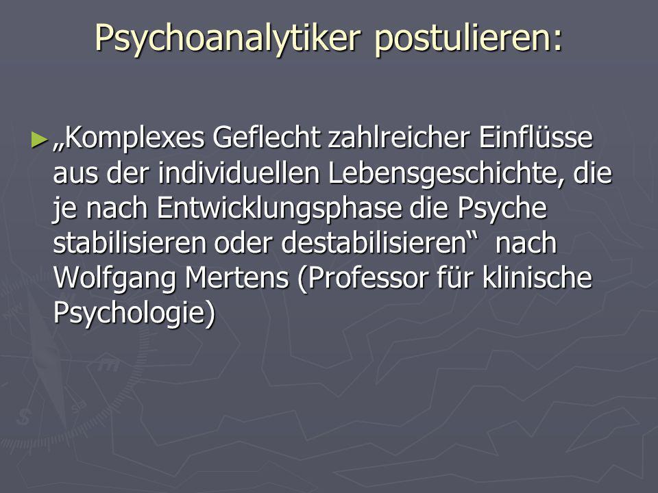 Psychoanalytiker postulieren: