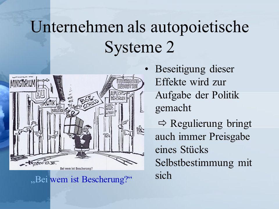 Unternehmen als autopoietische Systeme 2