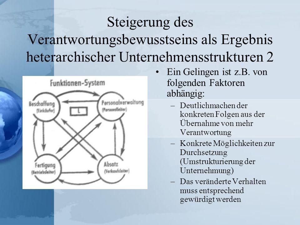 Steigerung des Verantwortungsbewusstseins als Ergebnis heterarchischer Unternehmensstrukturen 2