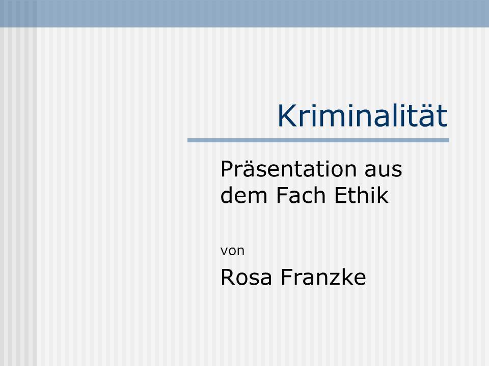 Präsentation aus dem Fach Ethik von Rosa Franzke