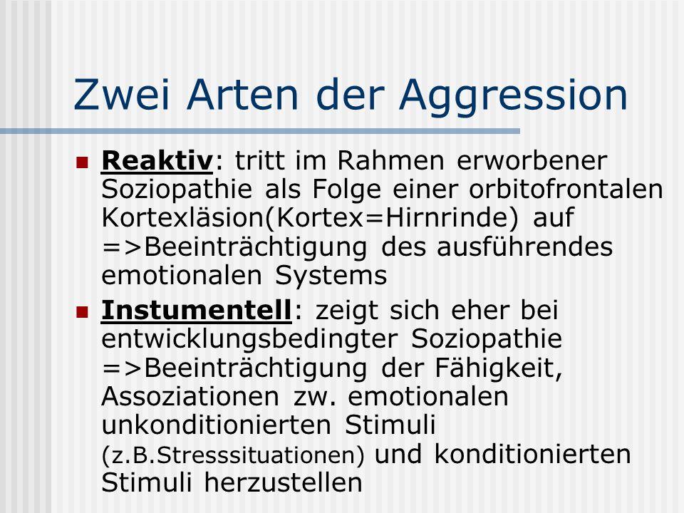 Zwei Arten der Aggression