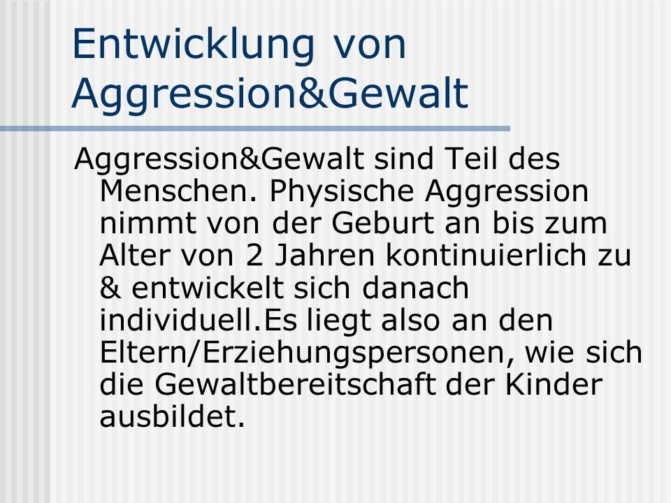 Entwicklung von Aggression&Gewalt
