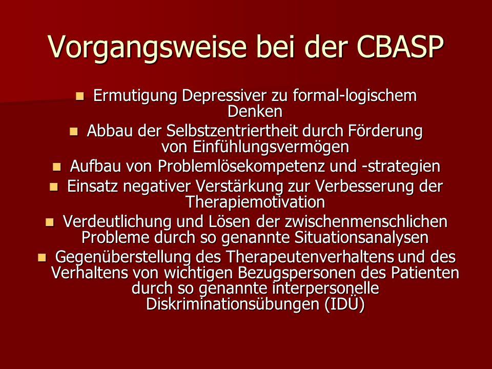 Vorgangsweise bei der CBASP