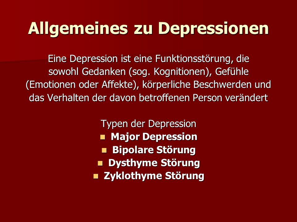 Allgemeines zu Depressionen