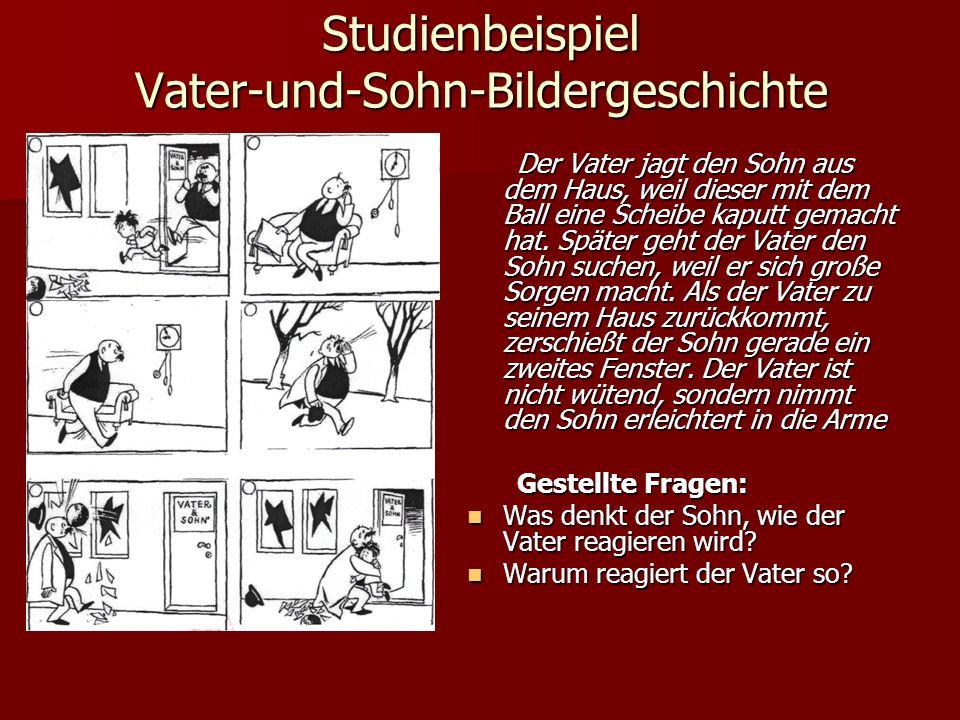 Studienbeispiel Vater-und-Sohn-Bildergeschichte