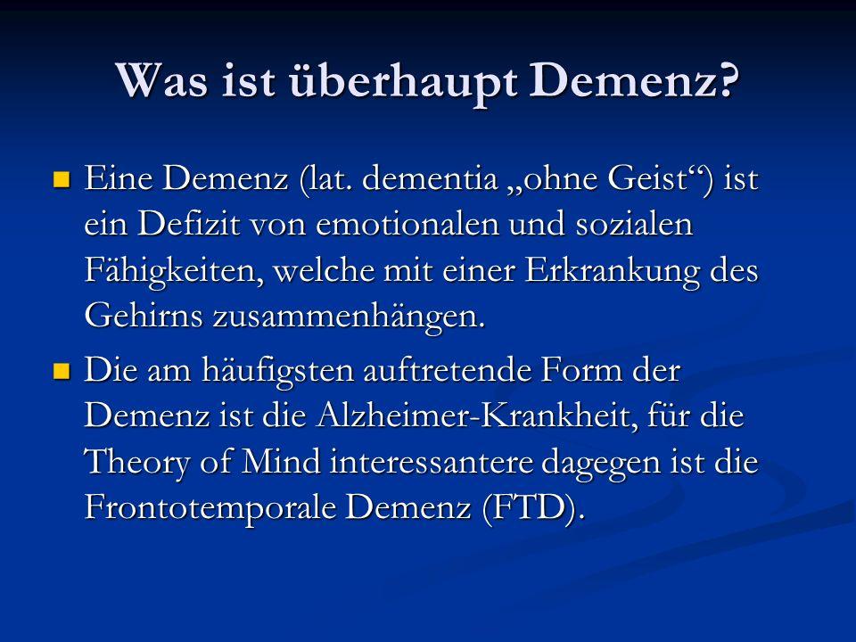 Was ist überhaupt Demenz