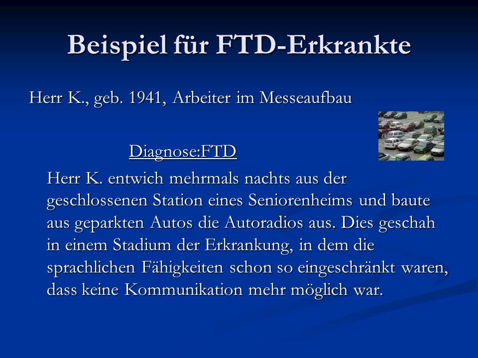 Beispiel für FTD-Erkrankte