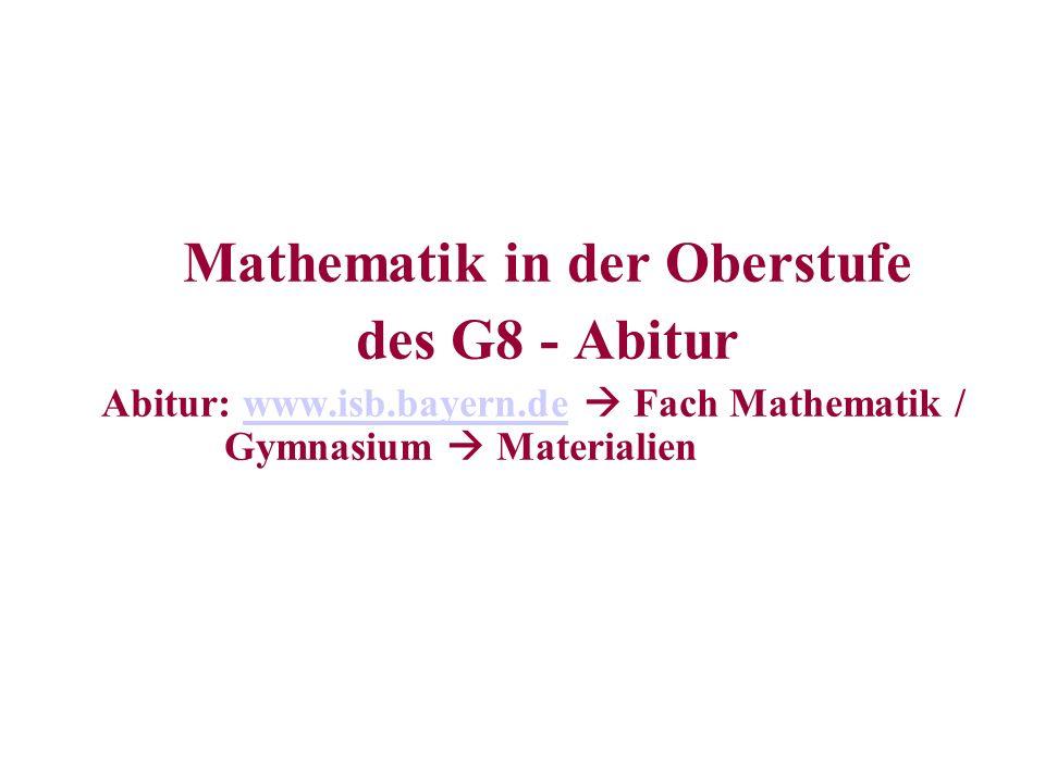 Mathematik in der Oberstufe