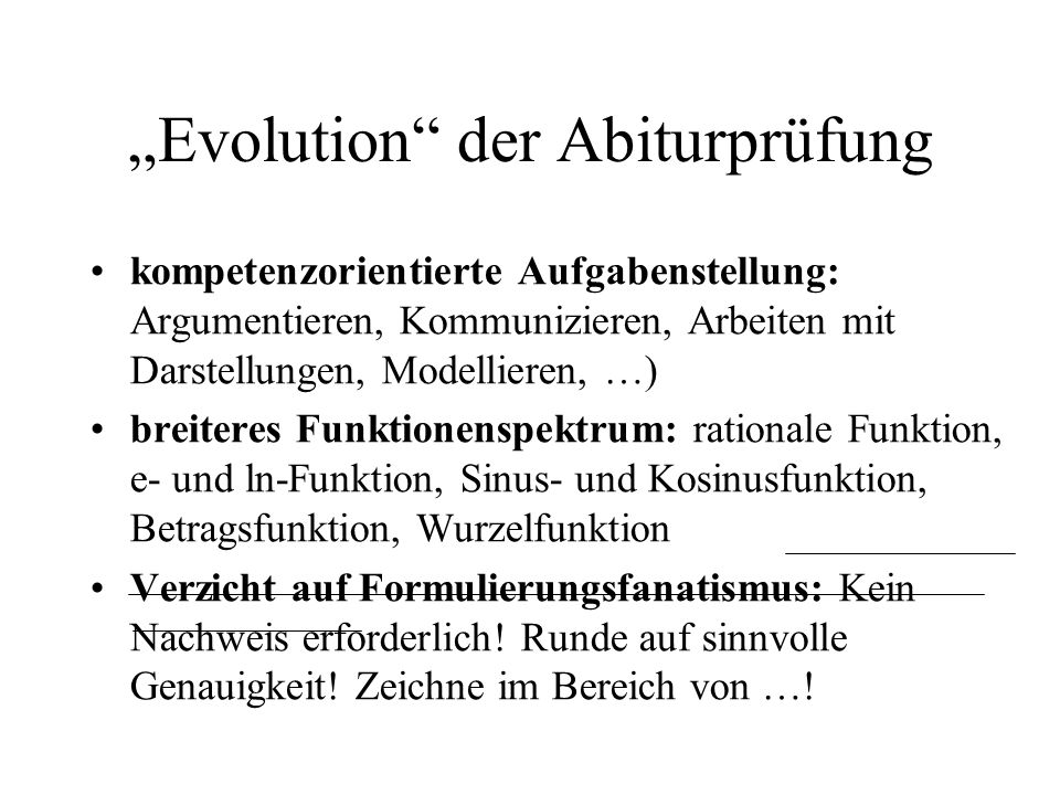 """""""Evolution der Abiturprüfung"""