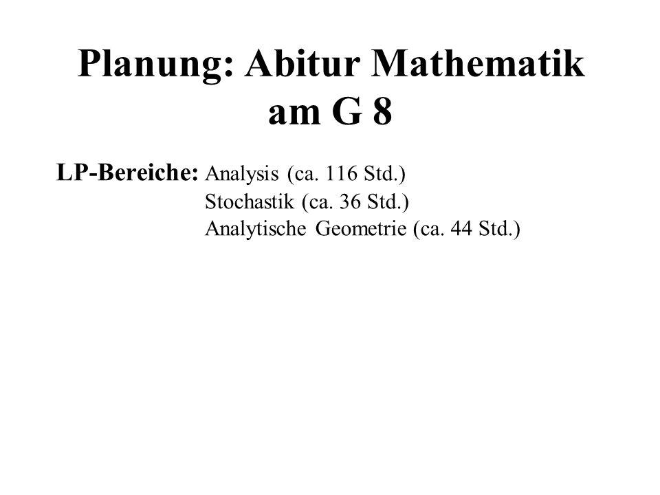 Planung: Abitur Mathematik am G 8