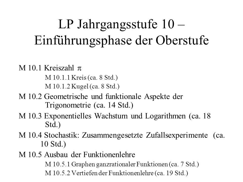 LP Jahrgangsstufe 10 – Einführungsphase der Oberstufe