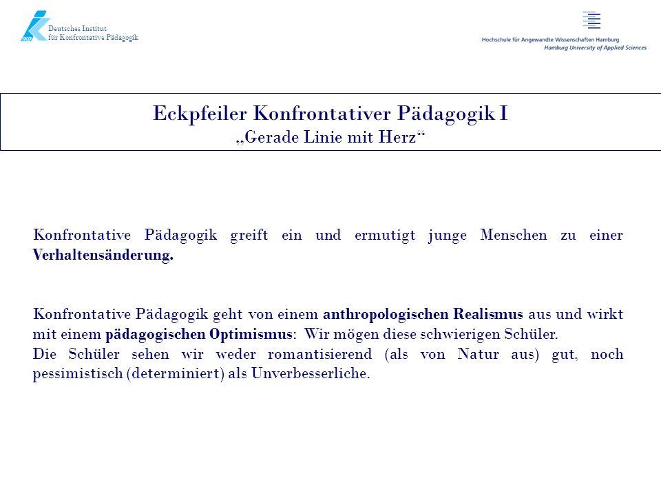 "Eckpfeiler Konfrontativer Pädagogik I ""Gerade Linie mit Herz"