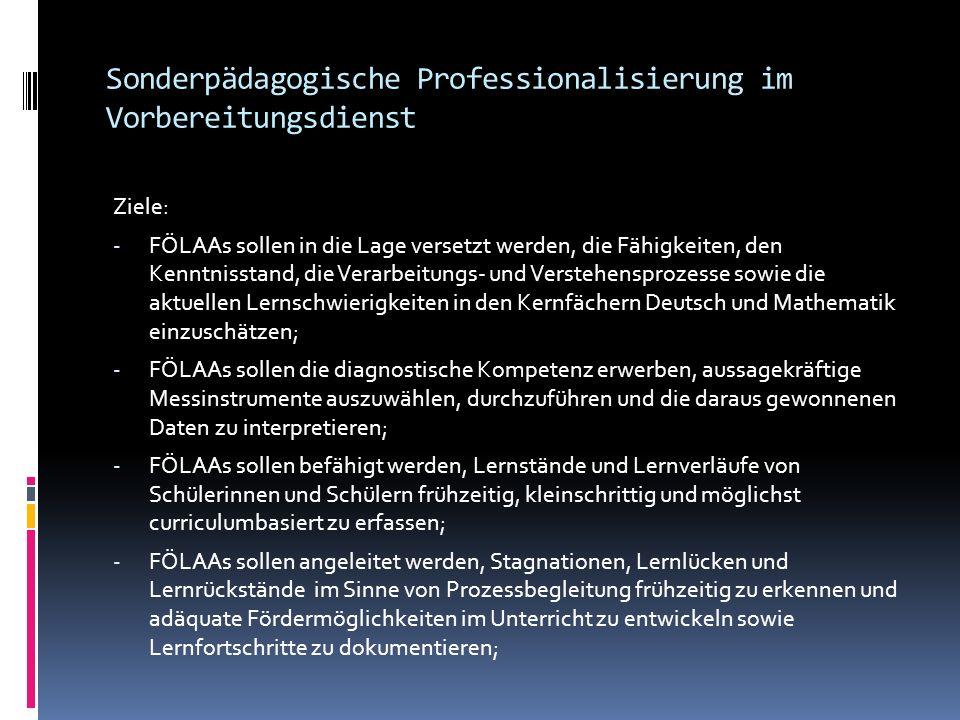 Sonderpädagogische Professionalisierung im Vorbereitungsdienst