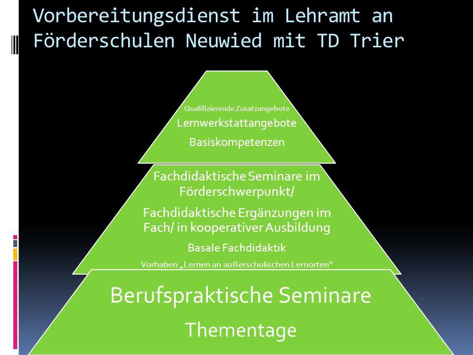 Vorbereitungsdienst im Lehramt an Förderschulen Neuwied mit TD Trier