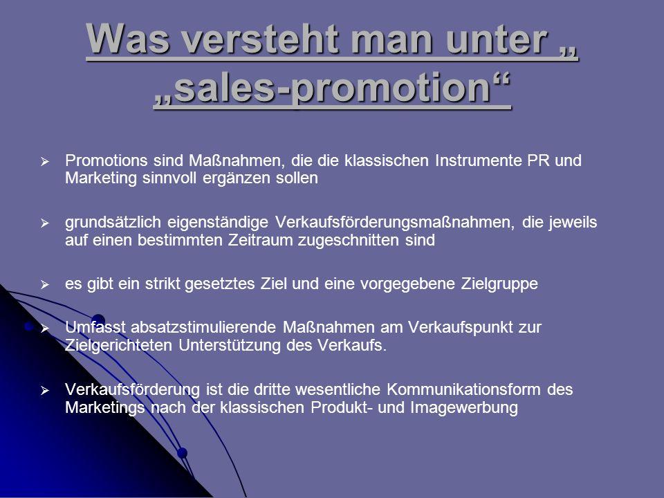 """Was versteht man unter """" """"sales-promotion"""