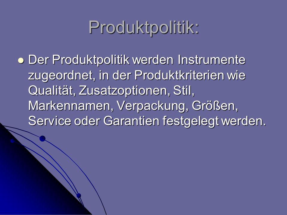 Produktpolitik: