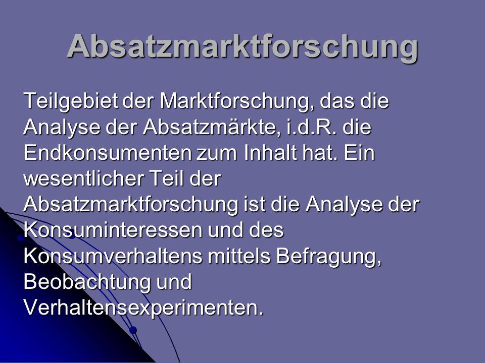 Absatzmarktforschung