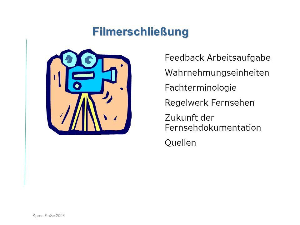 Filmerschließung Feedback Arbeitsaufgabe Wahrnehmungseinheiten