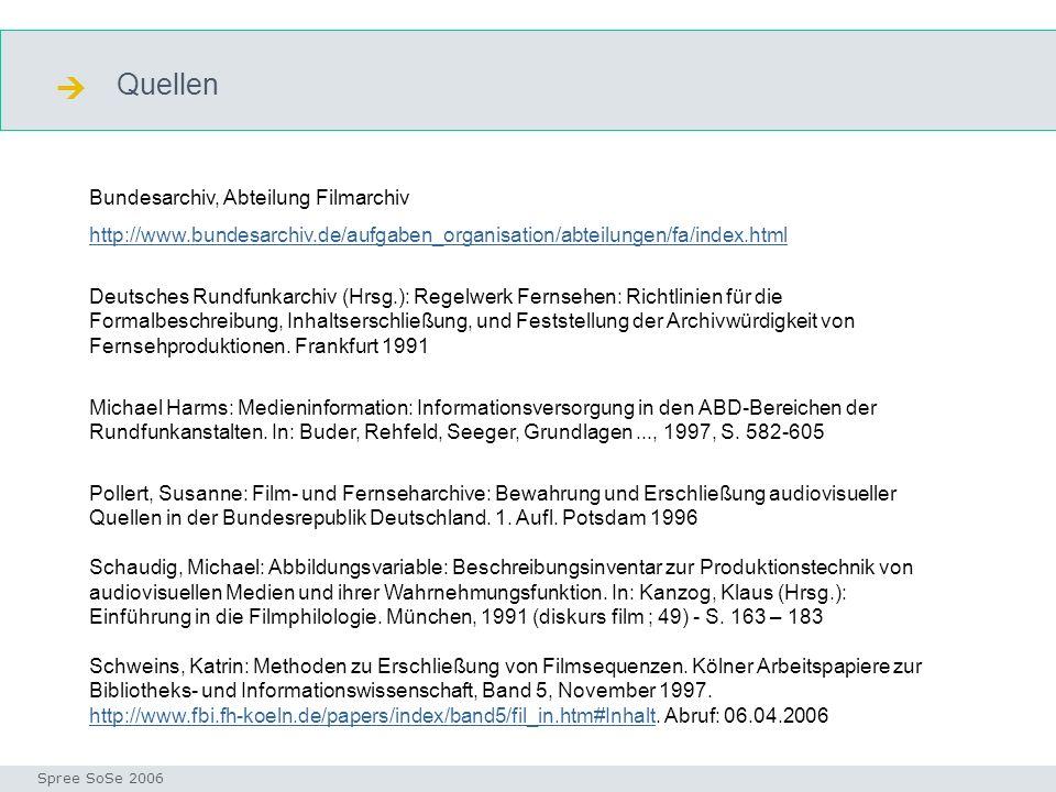  Quellen Bundesarchiv, Abteilung Filmarchiv
