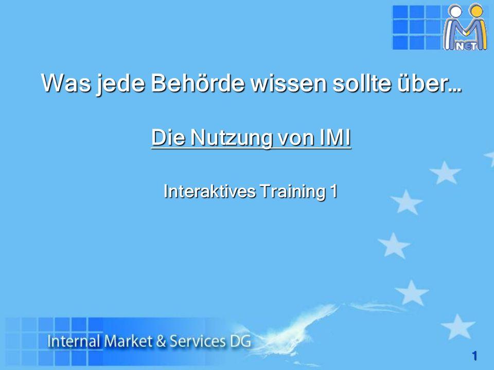 Was jede Behörde wissen sollte über… Die Nutzung von IMI