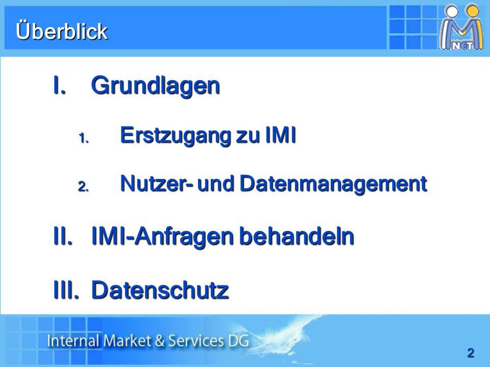 IMI-Anfragen behandeln Datenschutz