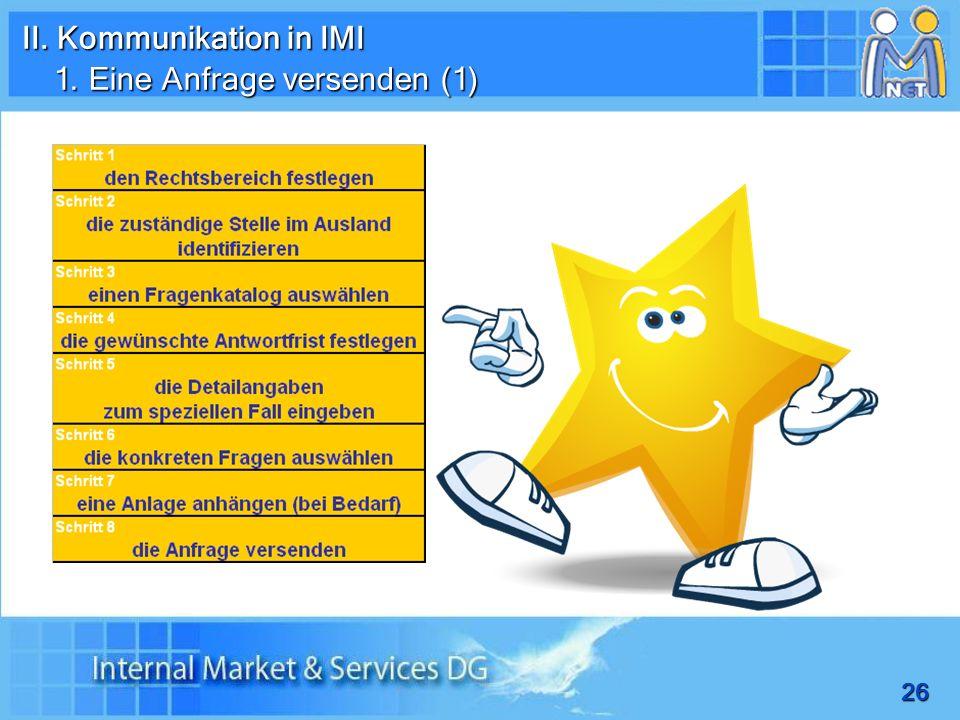 II. Kommunikation in IMI