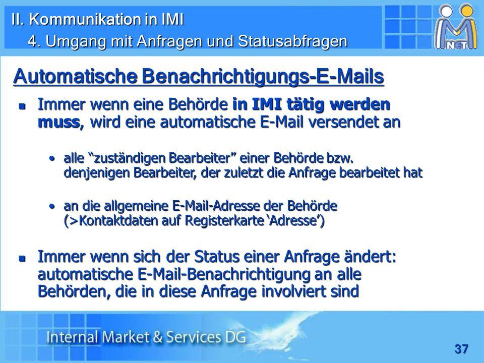 Automatische Benachrichtigungs-E-Mails