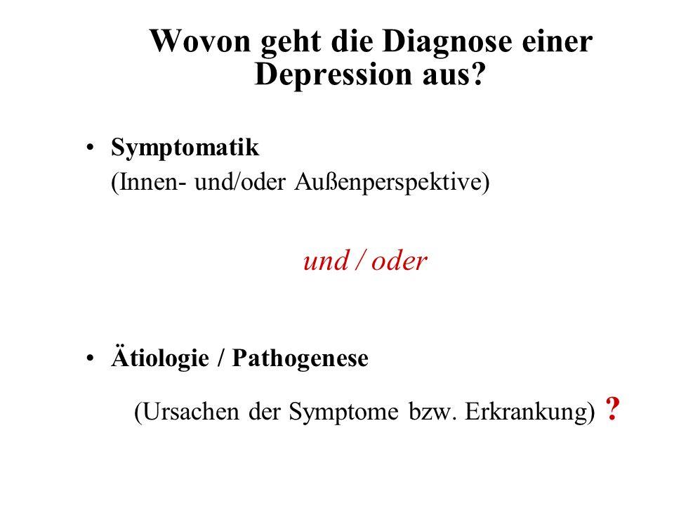 Wovon geht die Diagnose einer Depression aus