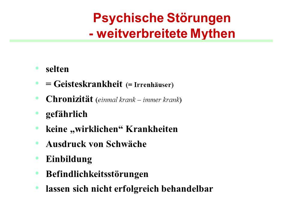Psychische Störungen - weitverbreitete Mythen