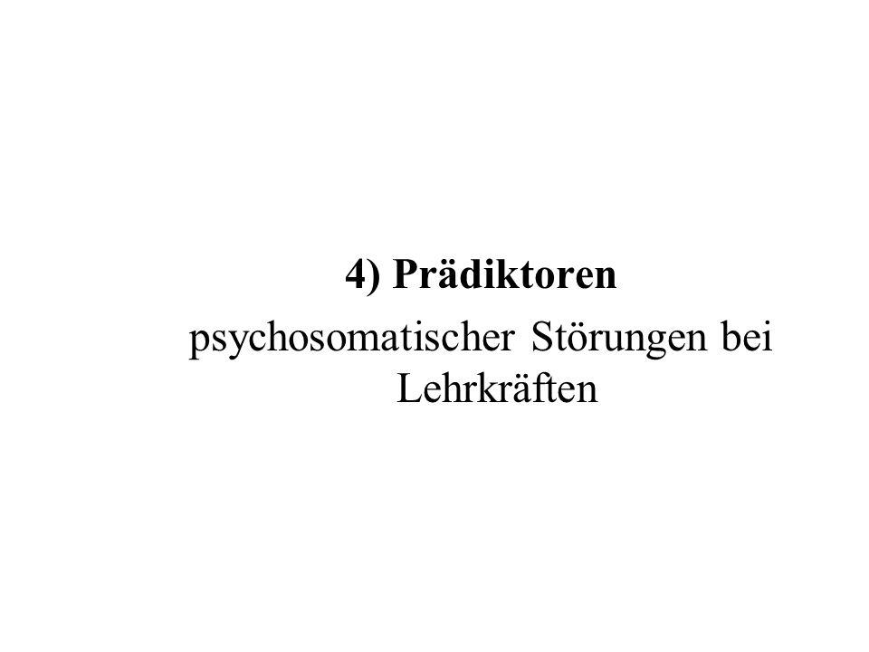 psychosomatischer Störungen bei Lehrkräften