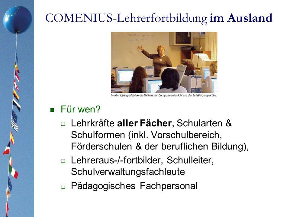 COMENIUS-Lehrerfortbildung im Ausland