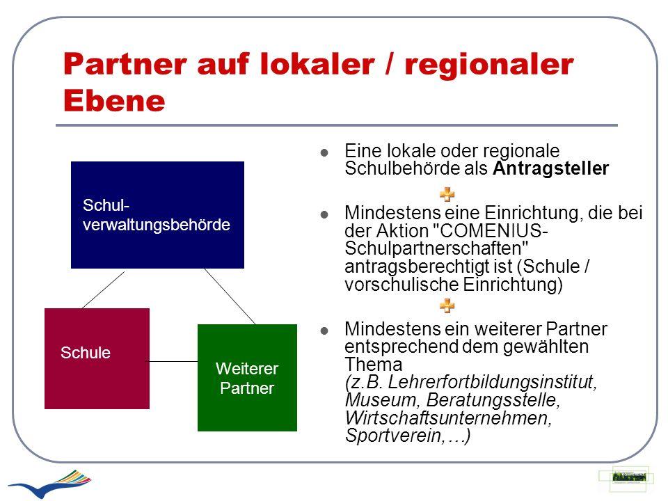 Partner auf lokaler / regionaler Ebene