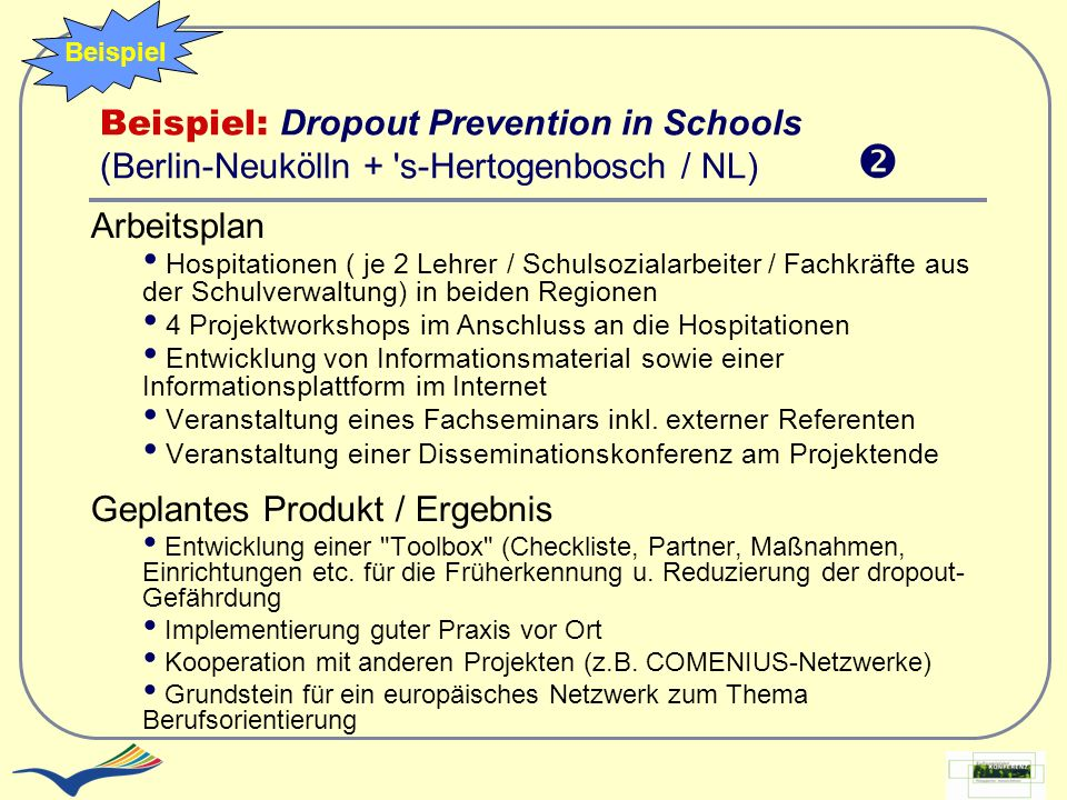 Geplantes Produkt / Ergebnis
