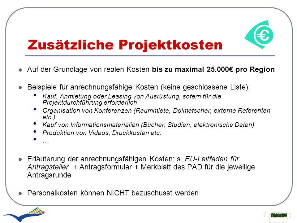 Zusätzliche Projektkosten
