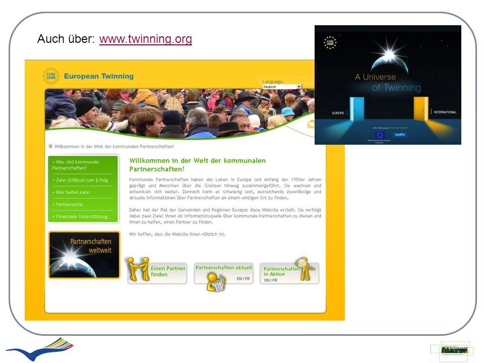 Auch über: www.twinning.org