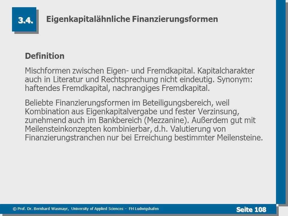 Eigenkapitalähnliche Finanzierungsformen