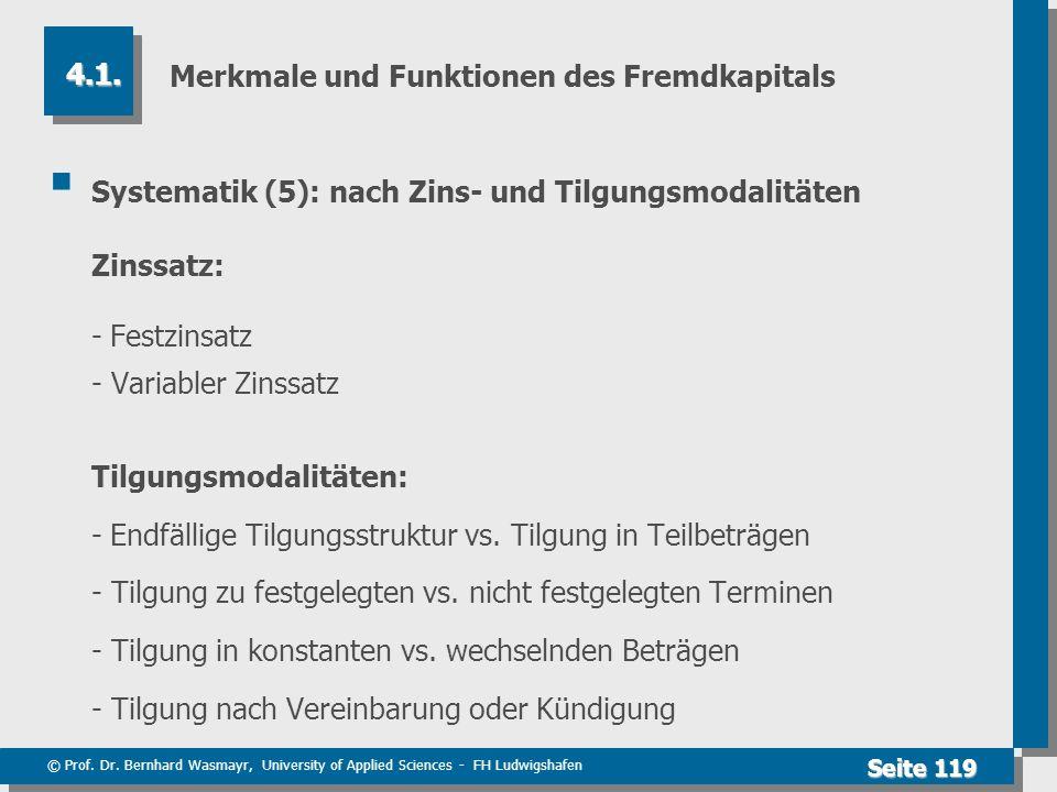Merkmale und Funktionen des Fremdkapitals
