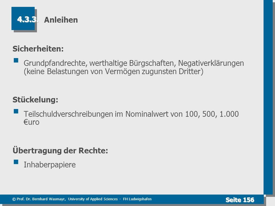 Teilschuldverschreibungen im Nominalwert von 100, 500, 1.000 €uro