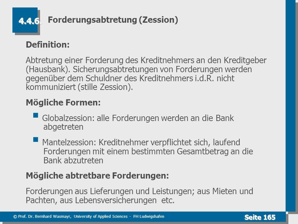 Forderungsabtretung (Zession)