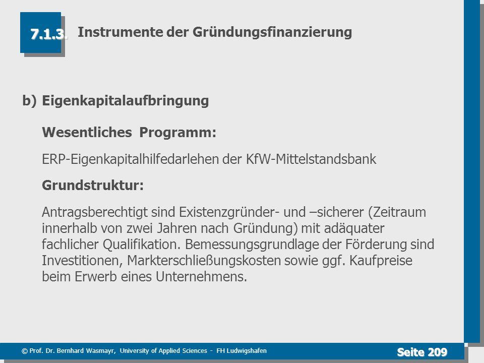 Instrumente der Gründungsfinanzierung