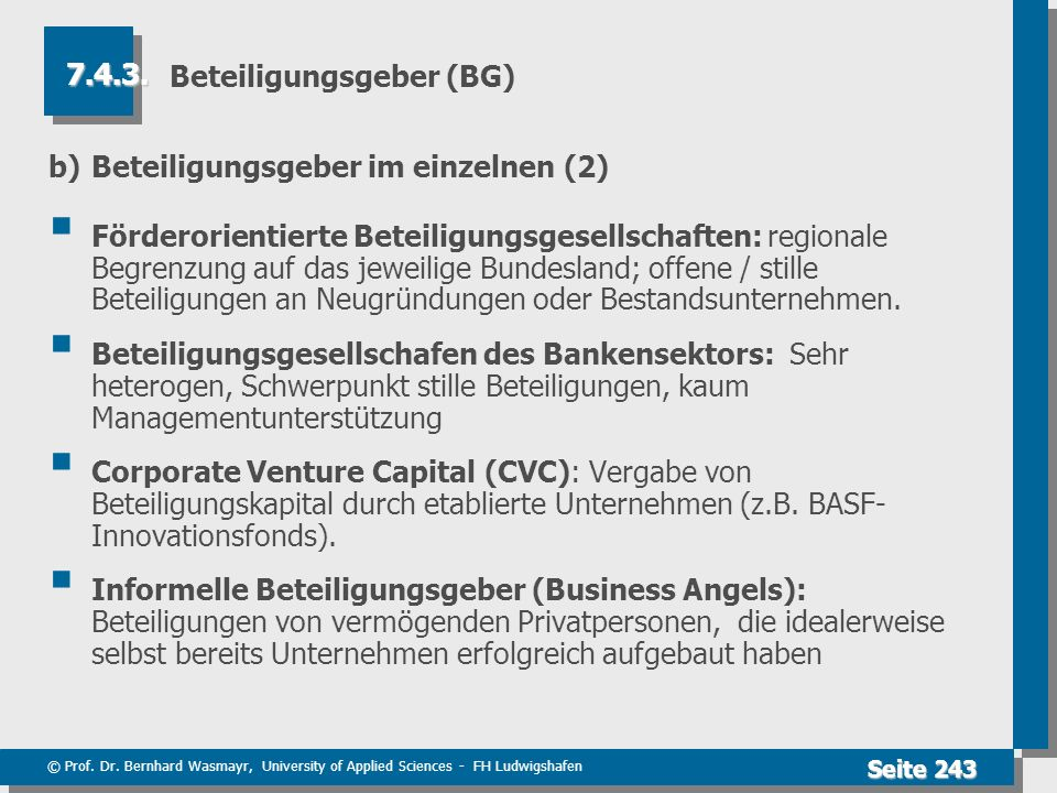 Beteiligungsgeber (BG)