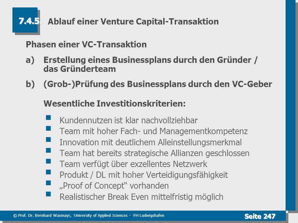 Ablauf einer Venture Capital-Transaktion